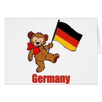 Oso de peluche de Alemania Felicitación