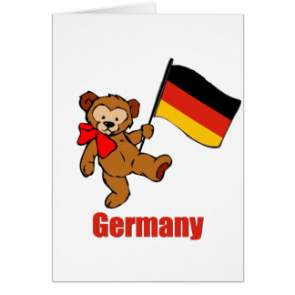 Oso de peluche de Alemania Tarjeton