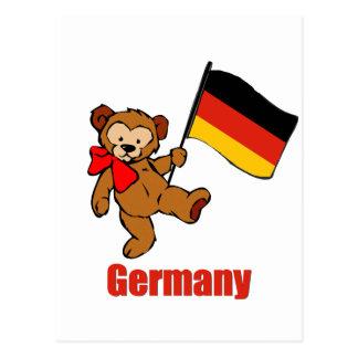 Oso de peluche de Alemania Postales