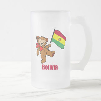 Oso de peluche de Bolivia Taza De Cristal