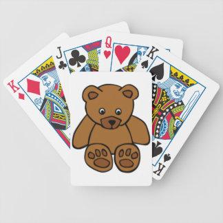 Oso de peluche de Brown Baraja Cartas De Poker