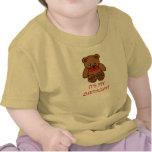 Oso de peluche de Brown del bebé es mi año del Camisetas