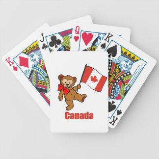 Oso de peluche de Canadá Baraja Cartas De Poker