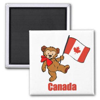 Oso de peluche de Canadá Imanes Para Frigoríficos