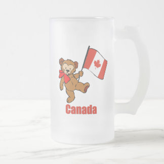 Oso de peluche de Canadá Taza De Cristal