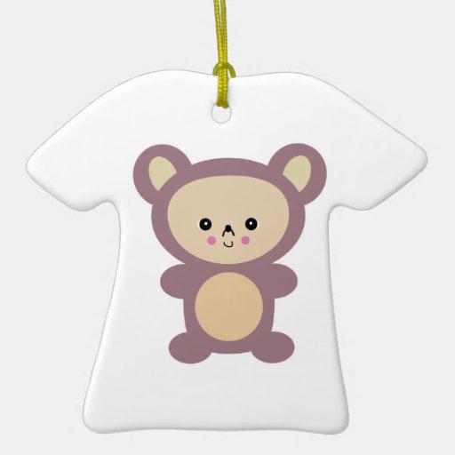oso de peluche de color de malva del kawaii ornamentos de navidad