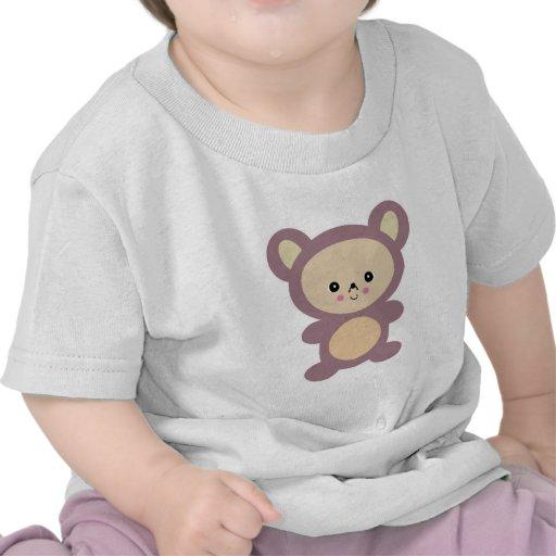 oso de peluche de color de malva del kawaii camiseta