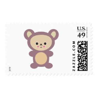 oso de peluche de color de malva del kawaii