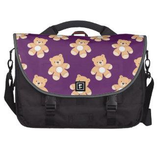 Oso de peluche de color morado oscuro, osos bolsa de ordenador