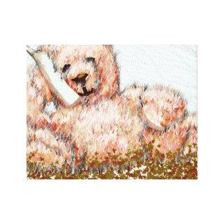 Oso de peluche de Honeybear de las ilustraciones Impresiones En Lona Estiradas