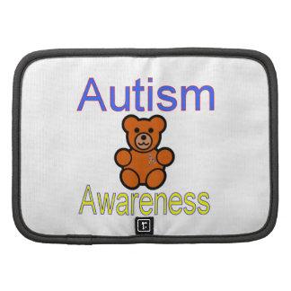 oso de peluche de la conciencia del autismo con la organizadores