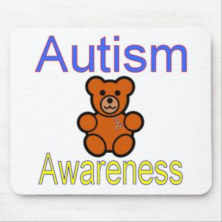 oso de peluche de la conciencia del autismo con la tapetes de ratones