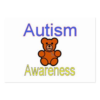 oso de peluche de la conciencia del autismo con la tarjetas personales