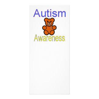 oso de peluche de la conciencia del autismo con la lonas