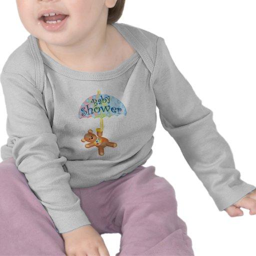 Oso de peluche de la fiesta de bienvenida al bebé camisetas