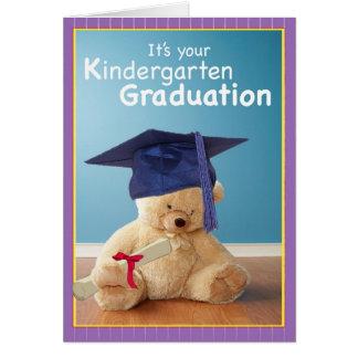 Oso de peluche de la graduación de 3734 guarderías tarjeta de felicitación