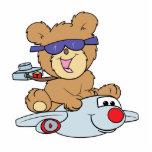 oso de peluche de las vacaciones en el avión escultura fotográfica