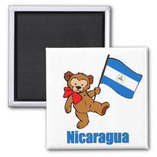 Oso de peluche de Nicaragua Imán Cuadrado