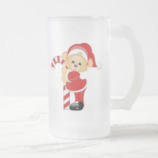 Oso de peluche de Santa y Candycane Taza
