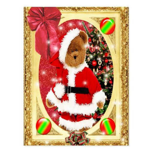 Oso de peluche de Santas Tarjeta Postal