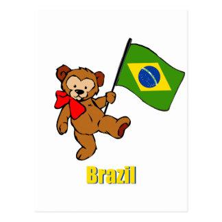 Oso de peluche del Brasil Postales