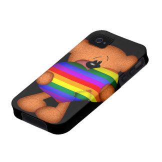 Oso de peluche del corazón del orgullo vibe iPhone 4 carcasa