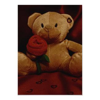 """Oso de peluche del el día de San Valentín Invitación 5"""" X 7"""""""