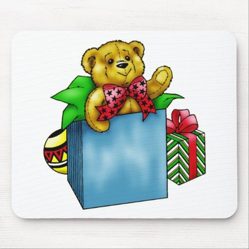 Oso de peluche del juguete del navidad tapetes de ratones