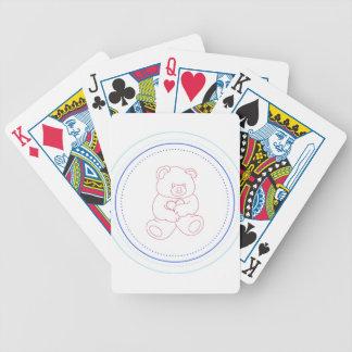 Oso de peluche del muchacho cartas de juego
