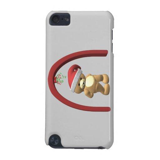 Oso de peluche del muérdago funda para iPod touch 5G