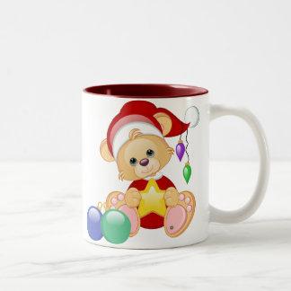 Oso de peluche del navidad con la estrella tazas de café