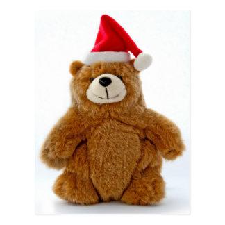 Oso de peluche del navidad postal
