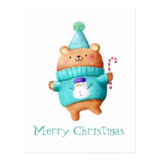 Oso de peluche del navidad tarjetas postales