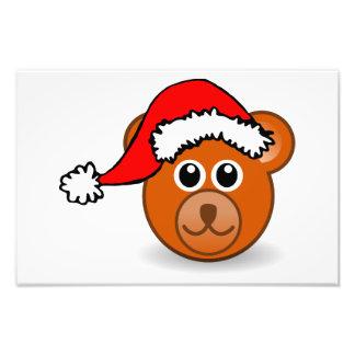 Oso de peluche divertido con el gorra de Papá Noel Fotografia