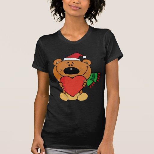 Oso de peluche dulce del navidad camisetas