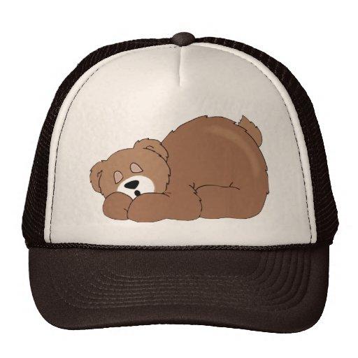 Oso de peluche el dormir gorras