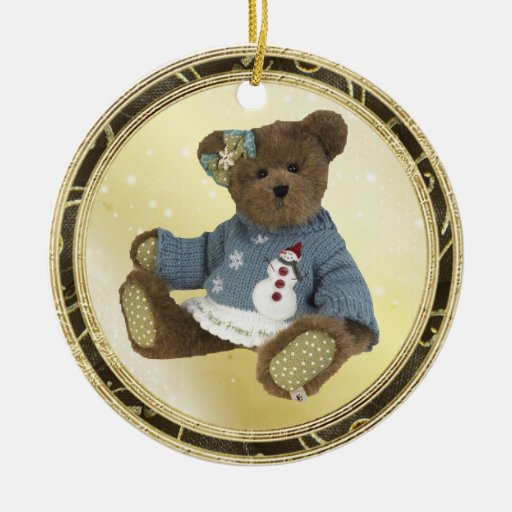Oso de peluche en el ornamento del suéter del ornamente de reyes
