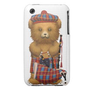 Oso de peluche escocés - blanco funda bareyly there para iPhone 3 de Case-Mate