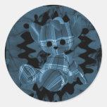 Oso de peluche espiral azul del humo pegatinas