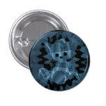 Oso de peluche espiral azul del humo pin