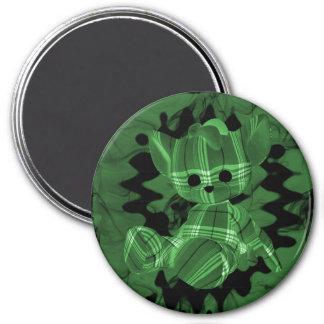 Oso de peluche espiral verde del humo imán de frigorifico