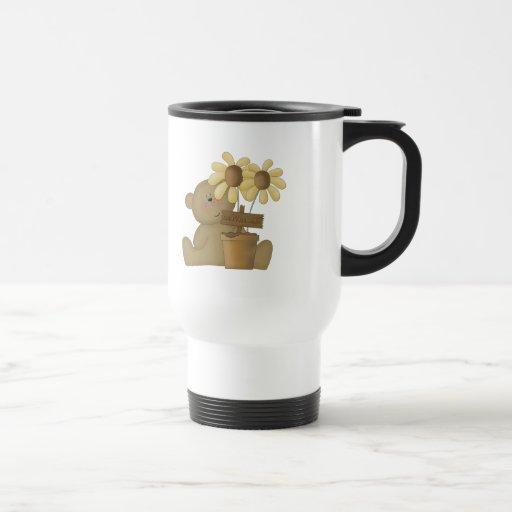 oso de peluche feliz de la cosecha taza