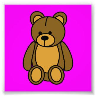 oso de peluche impresion fotografica