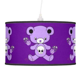 Oso de peluche gótico púrpura
