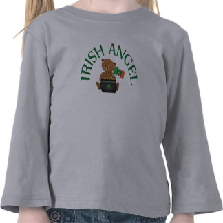 Oso de peluche irlandés del ángel camiseta