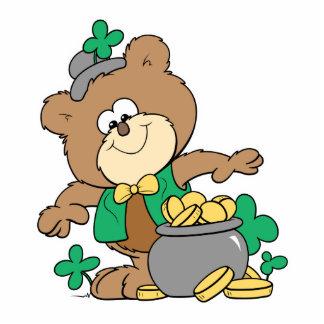 oso de peluche irlandés del muchacho del arroz del fotoescultura vertical