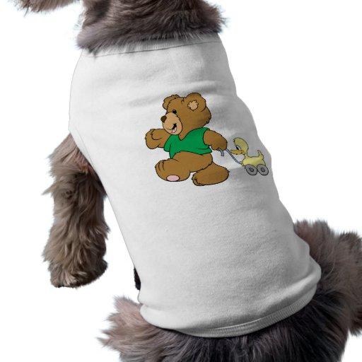 oso de peluche juguetón con el juguete ducky playera sin mangas para perro