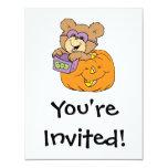 oso de peluche lindo de Halloween en abucheo de la Invitación 10,8 X 13,9 Cm