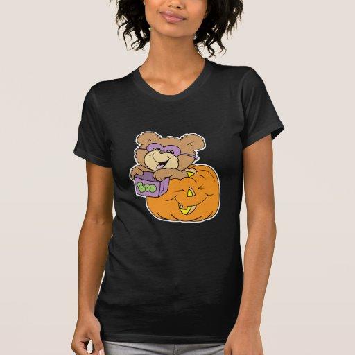 oso de peluche lindo de Halloween en abucheo de la Camisetas