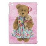 Oso de peluche lindo de Momma con el oso del bebé iPad Mini Cárcasa